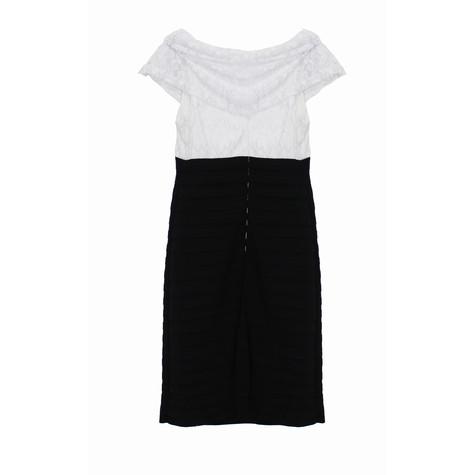Scarlett Ivory & Black Lace Pleat Dress