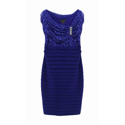Scarlett Royal Blue Bella Lace Pleat Dress