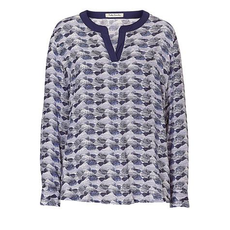 Betty Barclay Blue Pattern Blouse