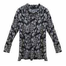 SophieB Black & White Floral Turtle Neck Knit