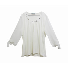 SophieB Off White Chiffon Ribbon Detail Top