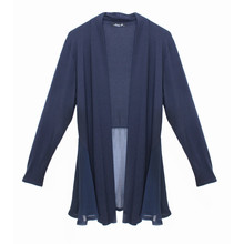 SophieB Navy Chiffon End Top