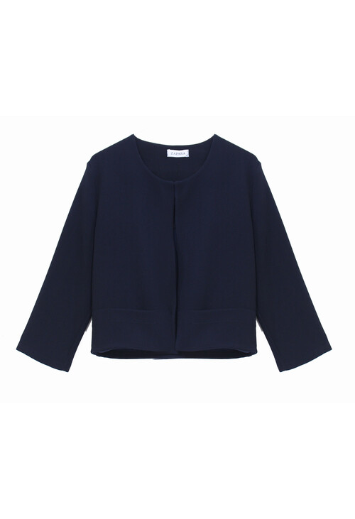 Zapara Navy Crop Jacket