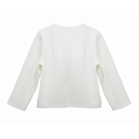 Zapara Off White Crop Jacket