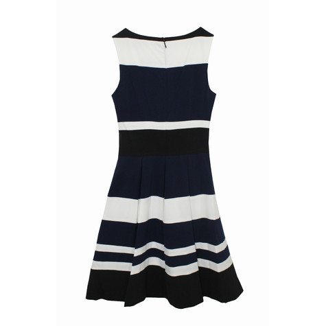 Lauren by Ralph Lauren Navy & Ivory Stripe Dress