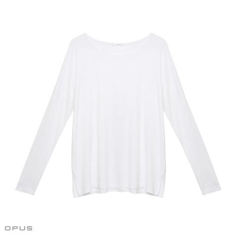 Opus Stine White Long Sleeve Top