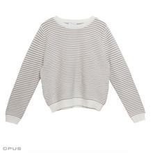 Opus Paulette Beige Stripe Knit