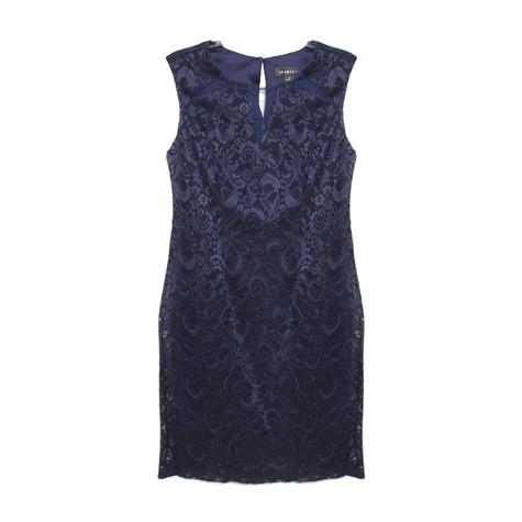 Scarlett Navy Lace Keyhole Dress