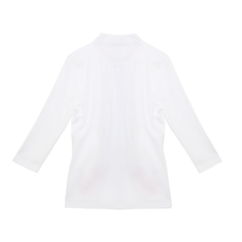 Pamela B Off White Flower Embroidered Polo