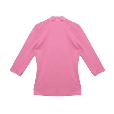 Pamela B Soft Pink Flower Embroidered Polo