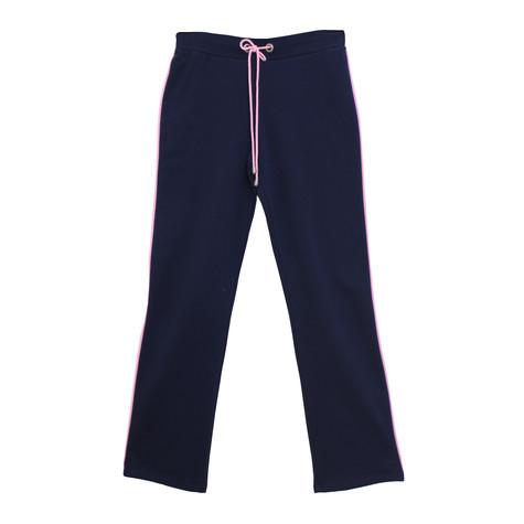 Pamela B Navy & Soft Pink Stripe Bottoms