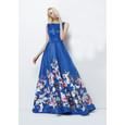 Lore Royal Print Long Floral Pattern Dress