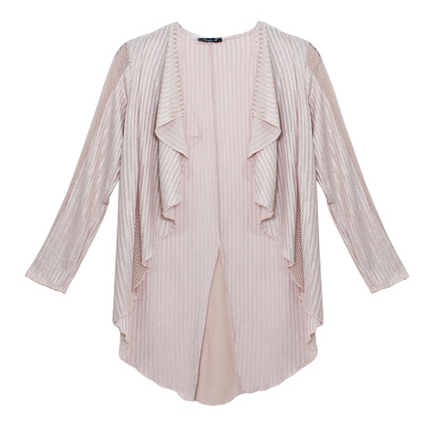 SophieB Pink Ribbed Open Top