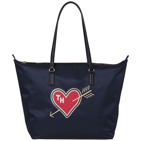 Tommy Hilfiger Heart Print Tote Bag