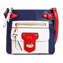 Gionni Navy & Red Cross Body Bag