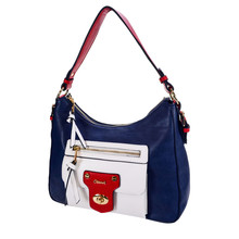 Gionni Red & Navy Hobo Bag