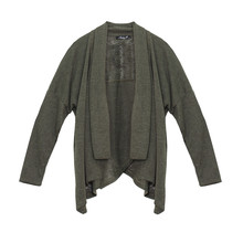 SophieB Plain Khaki Open Jacket
