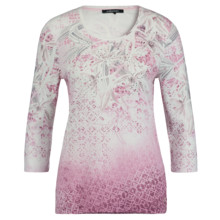 Olsen PRINT TOP STUDDED - ROSE BLOOM