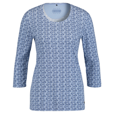 Olsen COTTON TOP PRINTED - DENIM