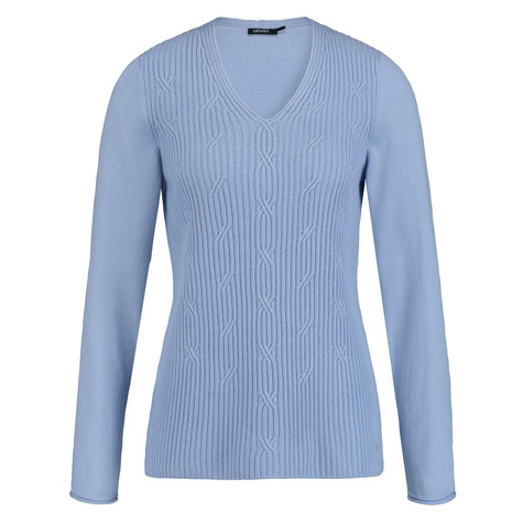 Olsen JUMPER CABLE-KNIT - DUSK BLUE