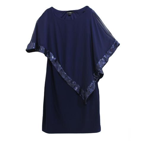 Scarlett Royal Blue Cape Sequence Dress
