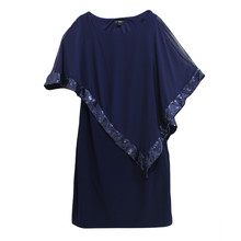 Scarlett Navy Cape Sequence Dress
