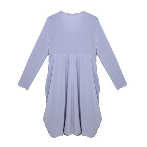Flam Mode Silver Round Neck Jersey Dress