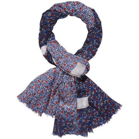 Tommy Hilfiger Navy & Floral Bold Print Scarf