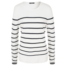 Olsen JUMPER RIBBED - OFF WHITE