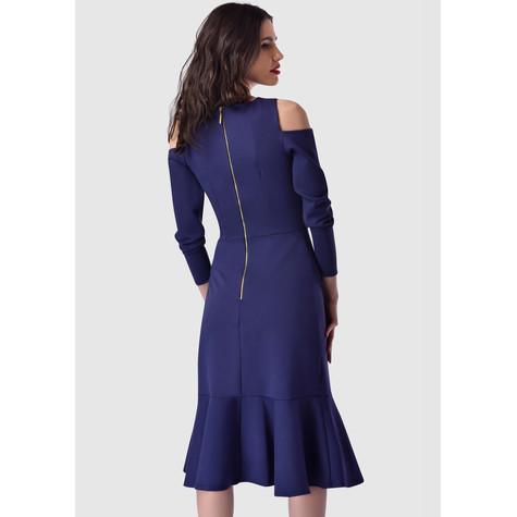 Closet Navy Cold Shoulder Dress