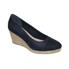 CORTINA Navy Metallic Stud Detail Wedges