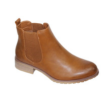 Sixth Sen Tan Smooth Chelsea Boots