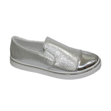 Bella Silver Metallic Twin Gusset Casual Shoe