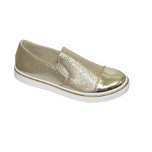 Bella Gold Metallic Twin Gusset Casual Shoe