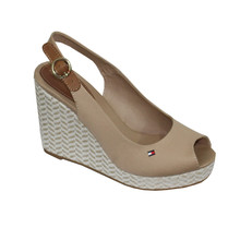 Tommy Hilfiger Sand Coloured Wedges