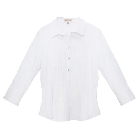 Tinta Style White Button up Collar Top