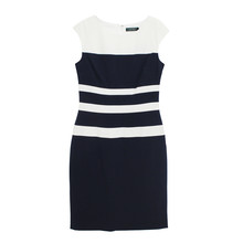 Lauren by Ralph Lauren COLOR-BLOCKED GABARDINE DRESS