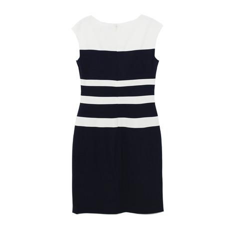 Lauren by Ralph Lauren COLOR-BLOCKED GABARDINE DRESS