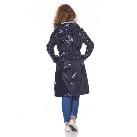 Happy Rainy Days Long lacquer raincoat Nina navy