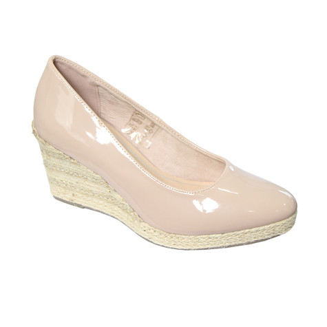4bc70faaf36 CORTINA Nude Patent Wedges Shoe