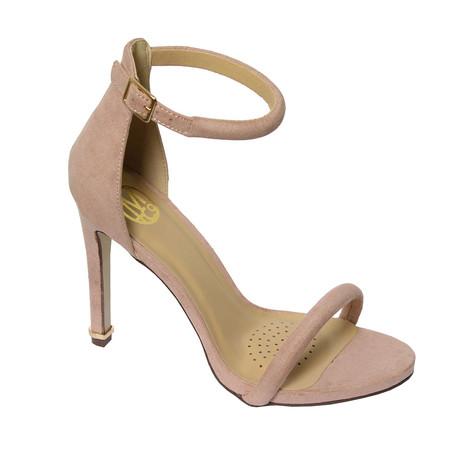 Millie & Co Pink Ankle Strap Open Toe Heel