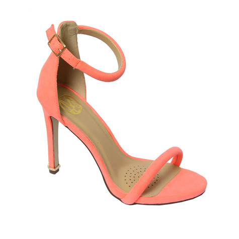 Millie & Co Coral Ankle Strap Open Toe Heel