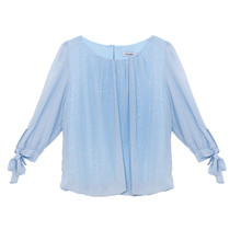 Zapara Light Blue Glitter Top