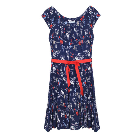 Zapara Pink, Navy & Red Floral Dress
