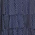 Zapara Navy Layered Fine Metallic Pattern Dress