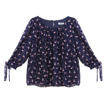 Zapara Flamingo Pattern Print Blouse