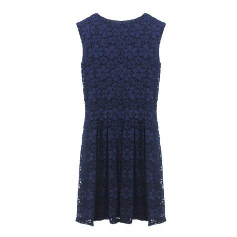 Zapara Navy Lace Cap Sleeve Dress