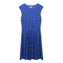 Royal Blue Lace Cap Sleeve Dress