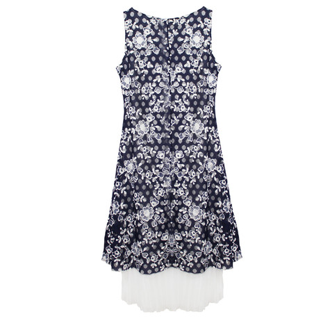 SophieB Two Tone Lace Floral Dress