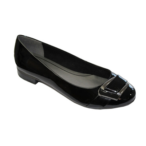83746366d1be Marco Tozzi Black Patent Buckle Style Pump
